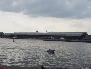 Asterdam Train Station seen from Amsterdam Noord