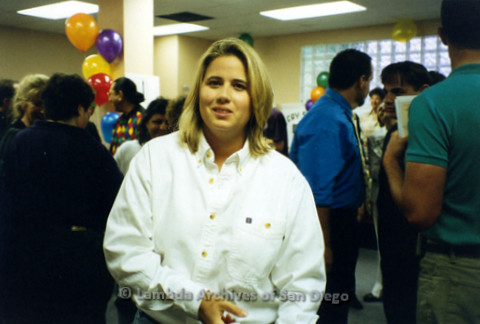 Chastity Bono, later known as Chaz Bono, during a San Diego Pride Event at The San Diego LGBT Center on Normal Street in Hillcrest.