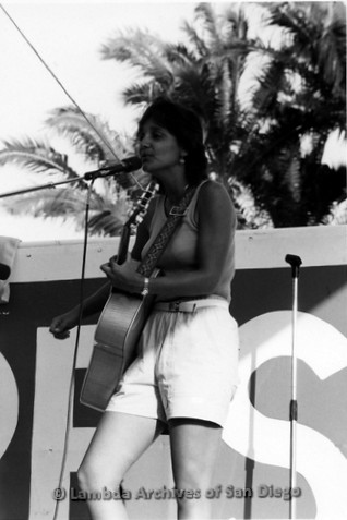 San Diego Lambda Pride Festival: Lesbian Artist Performs on Pride Festival Stage.