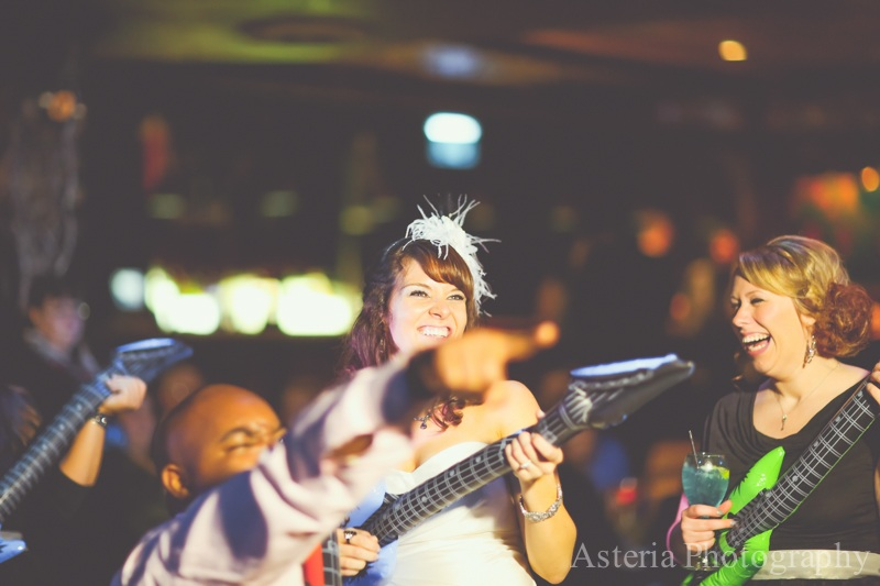Bride and guests rocking out