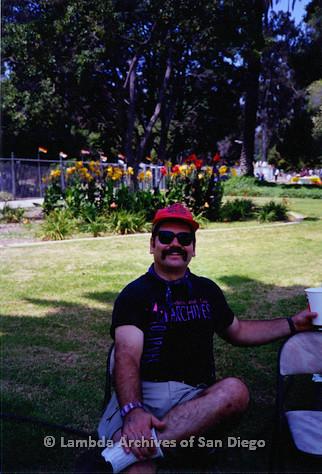 P018.127m.r.t San Diego Pride Festival 1994: Jim Burnette at Pride Festival