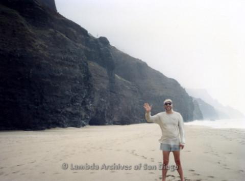 P338.068m.r.t Charles McKain at Kalalau Beach in Kauai, Hawaii