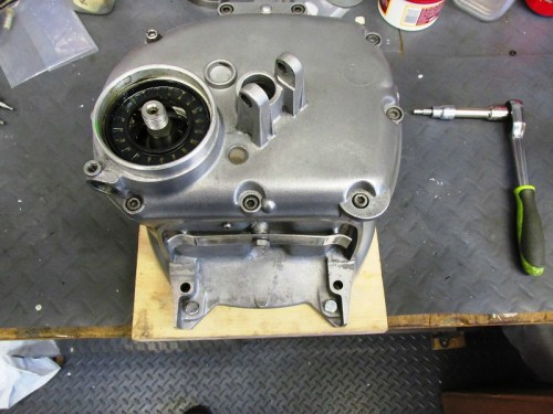 Rear Transmission Cover Secured with Nine Allen Bolts