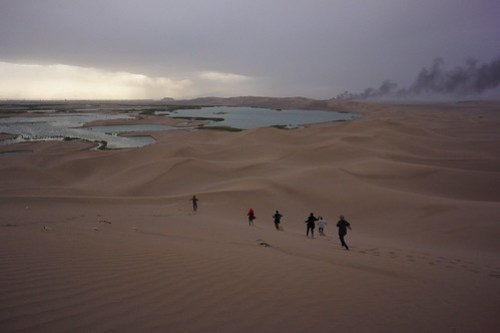 Running through the dunes