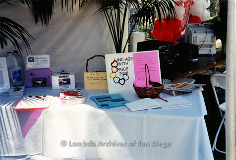 P018.171m.r.t San Diego Pride Festival 2000: Lesbians in North County (LINC) display table