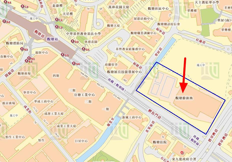 觀塘游泳池地圖   觀塘游泳池   香港政府 地理資訊地圖   黃埔體育會 Whampoa Sports Club   Flickr
