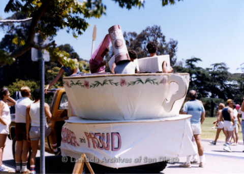 San Diego Lambda Pride Parade: Members of The Live And Let Live Alano Club Decorate Their Float 'Sober And Proud'.