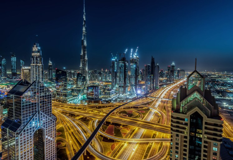 Dubai Skyline at Night   Sorry I have not been posting on Fl…   Flickr