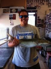 Thanks Uncle Gary for the fresh bait. 7 1/2 lbs Uku. - Jordon