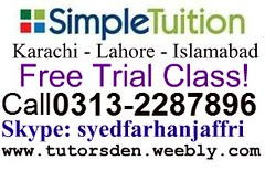 simple tuition in karachi, simple tutoring, online tuition, home tutor in lahore,