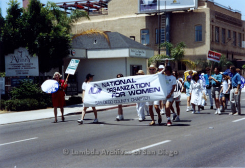 San Diego LGBTQ Pride Parade, 1992 National Organization For Women