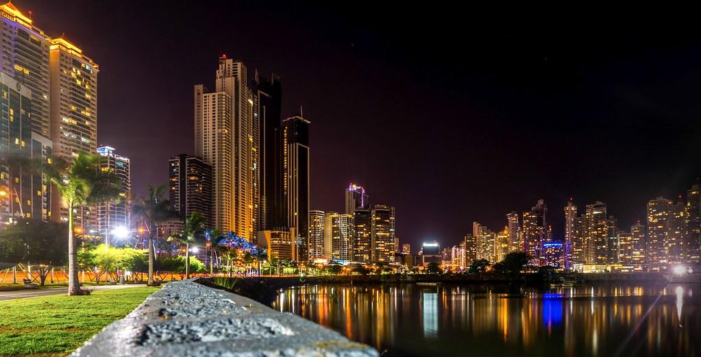 Beach Wallpaper Hd Panama City At Night Panama Long Exposure Of Panama City