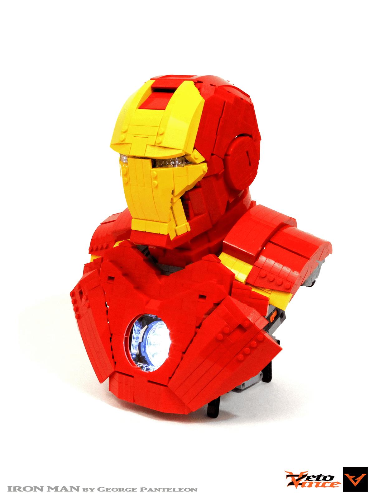 Iron Man Helmet Blueprint : helmet, blueprint, Helmet, ZetoVince, Rebrickable, Build