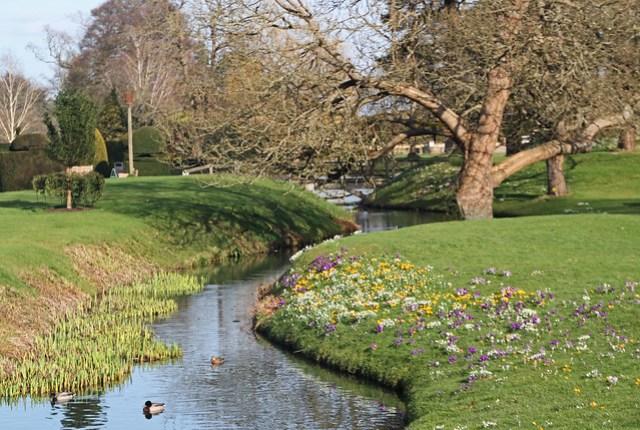 Hever Castle Gardens in Springtime