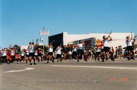 P018.167m.r.t San Diego Pride Parade 1999: Colorguard rifle routine