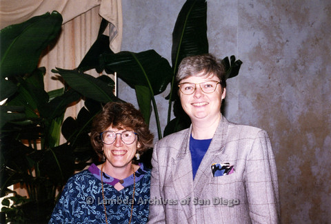 P237.006m.r.t Center Events: Christine Kehoe (right) and Karen Marshall (left)