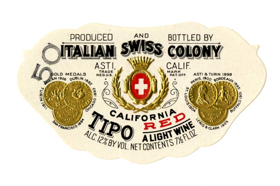 wine label italian swiss