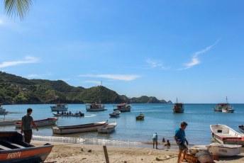 De baai van Taganga.