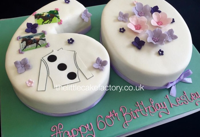 Number 60 Birthday Cake Thelittlecakefactorycouk Num Flickr