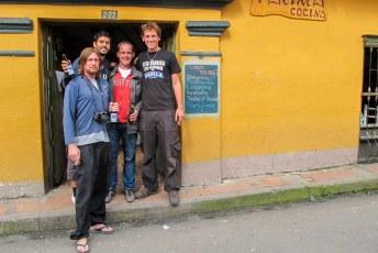 Nick (uiterst rechts op de foto) leerde ik kennen in Peru. Hagan en Sebastian zijn ook goede vrienden geworden.