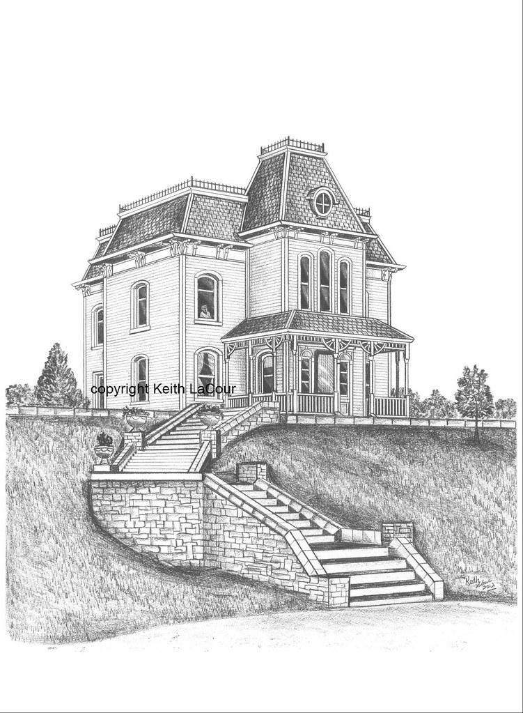 House Pencil Sketch : house, pencil, sketch, Norman, Bates, House, Psycho, Movie, Pencil, Drawing, By…, Flickr