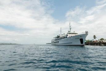 Je kunt ook met deze boot vanuit Honiara naar Gizo. Dat duurt 30 uur en ruikt geweldig.
