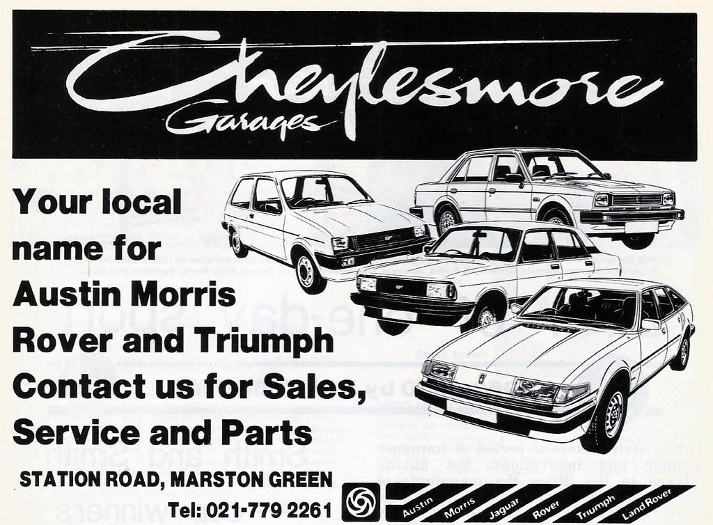 1982 advert cheylesmore garage