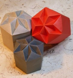 hexagon diamant box by tomoko fuse by esli24  [ 1024 x 768 Pixel ]