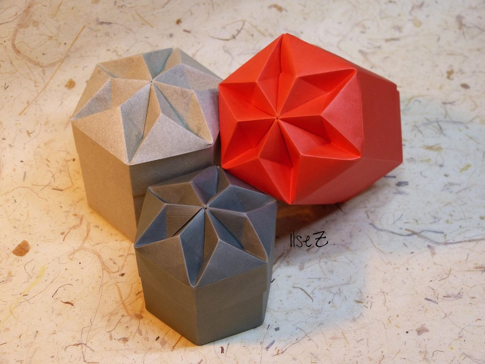 medium resolution of  hexagon diamant box by tomoko fuse by esli24