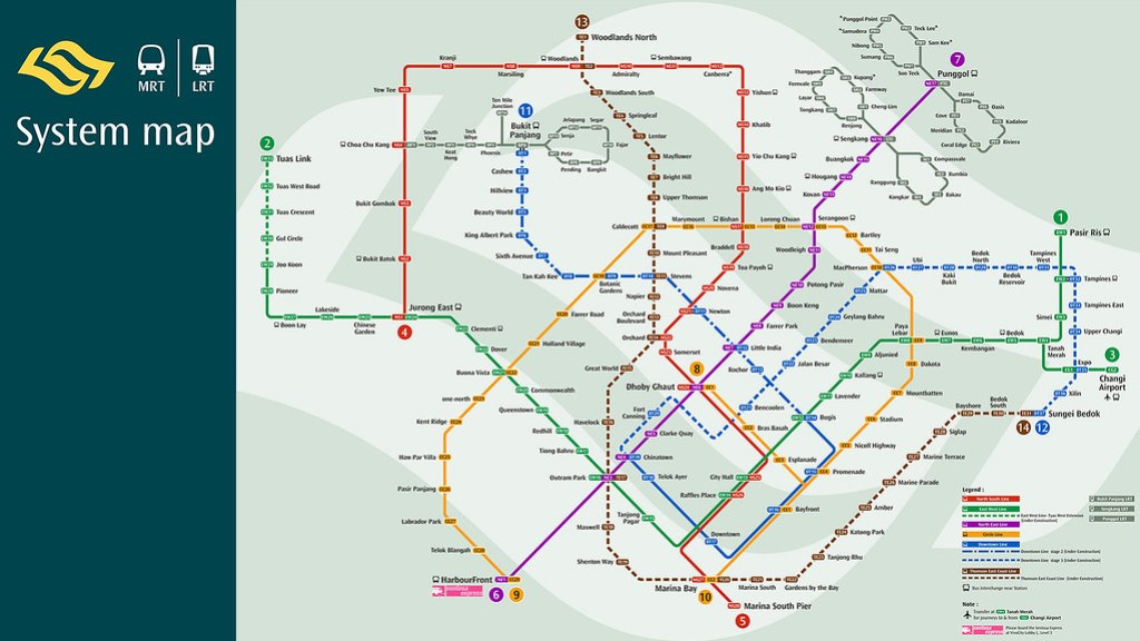 Singapore MRT Train Map