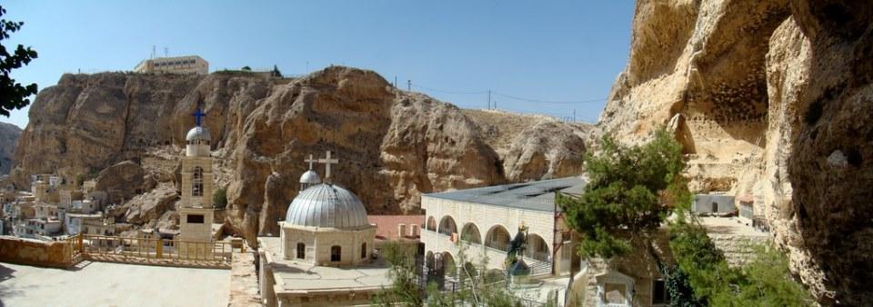 Siria Maalula Monasterio Santa Tecla Mar Taqla panoramica 01