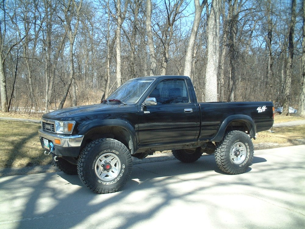 medium resolution of  89 95 toyota pick up with fender flares by jungle fender flares