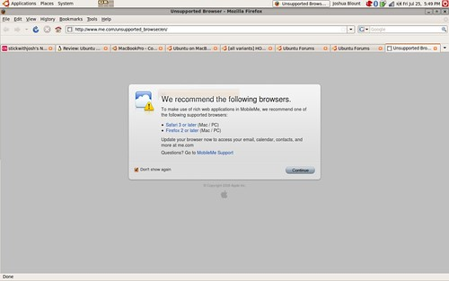 MobileMe is hating on Linux Users   While it's great that Mo…   Flickr