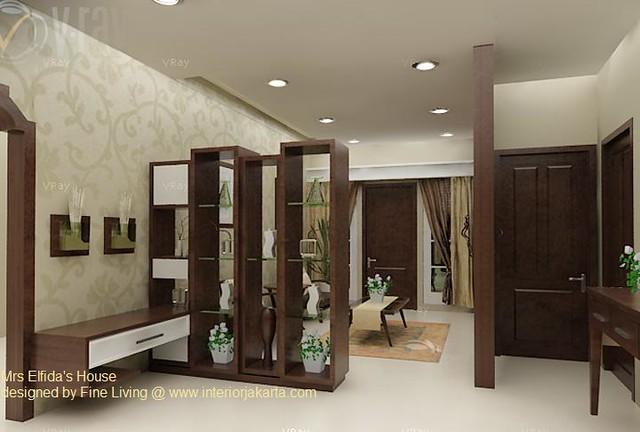 Divider  Pembatas antara ruang tamu dan ruang keluarga