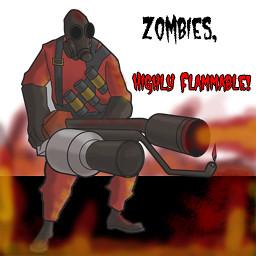 tf2 pyro vs zombies