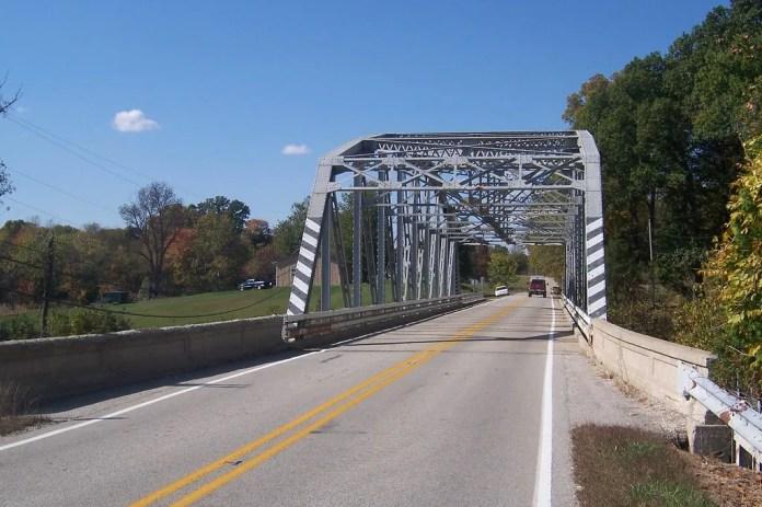 Steel truss bridge near Poland, IN