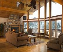 Great Room Of Lindal Cedar Home In Colorado