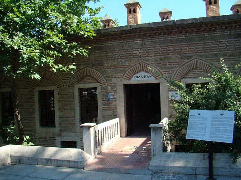 edificio Koza Han Mercado de la seda Bursa Turquía 01