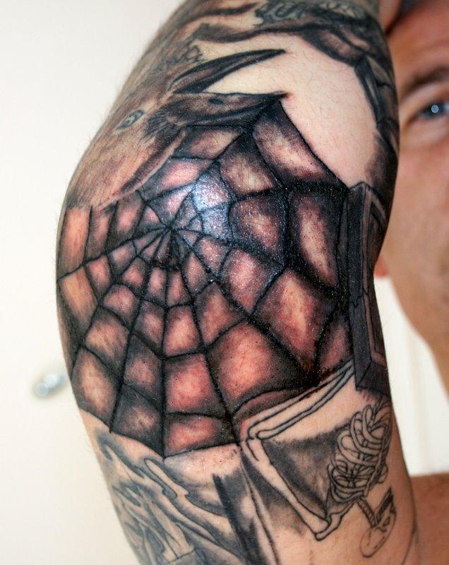 Spiderweb Tattoo On Elbow : spiderweb, tattoo, elbow, Spiderweb, Tattoo, Elbow, Session, Painful, Exp…, Flickr