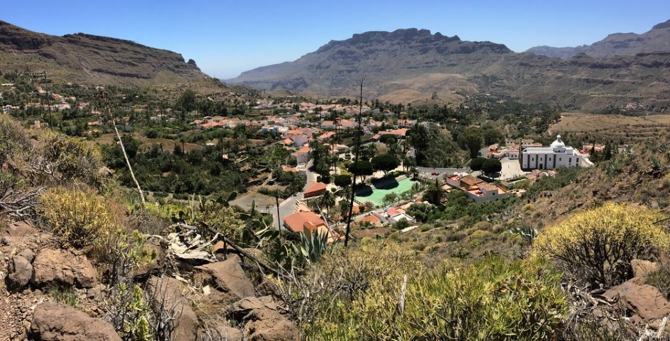 Camino Rompeserones vista de Santa Lucia de Tirajana isla de Gran Canaria 48