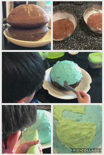 Earth Globe Cake