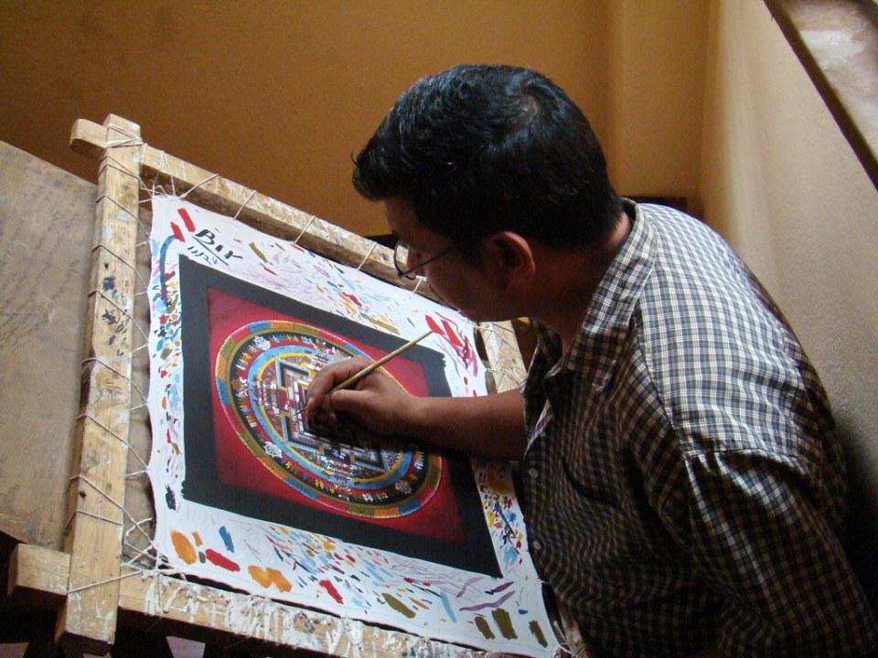 Nepal Escuelas de Thangka 25