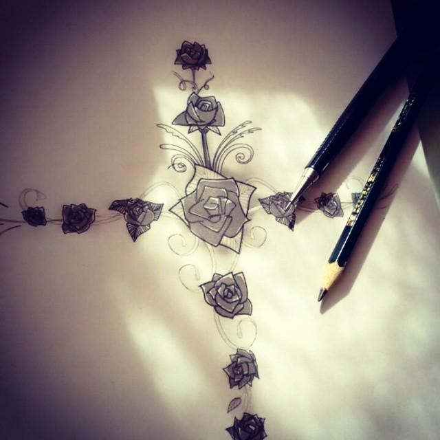 Estudo Para Tattoo Cruz De Flores Estudo Para Tattoo Cruz Flickr