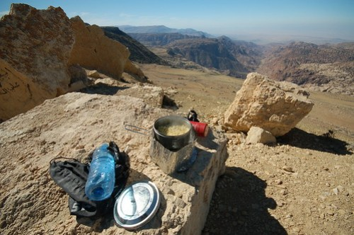 Lunch overlooking Dana valley