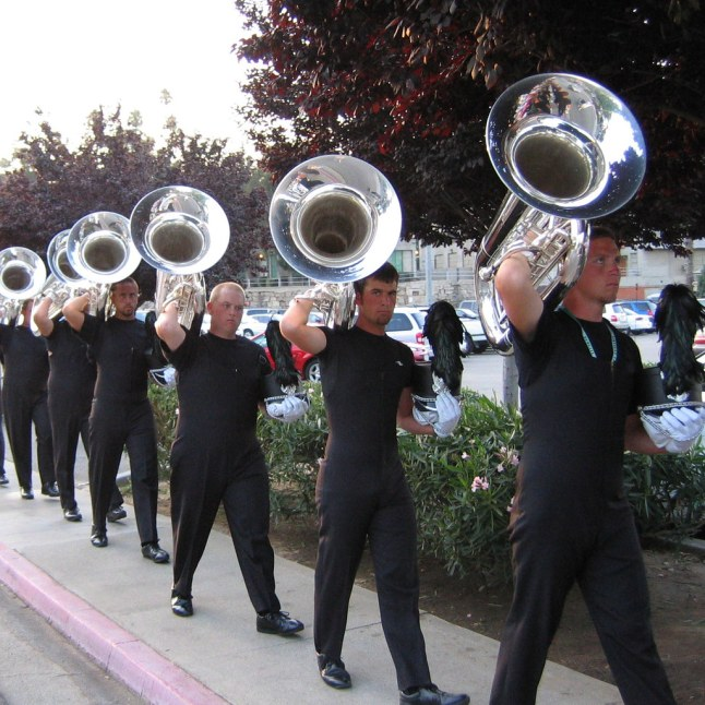 Horn Luggers | The largest brass instrument in the drum corp… | Flickr