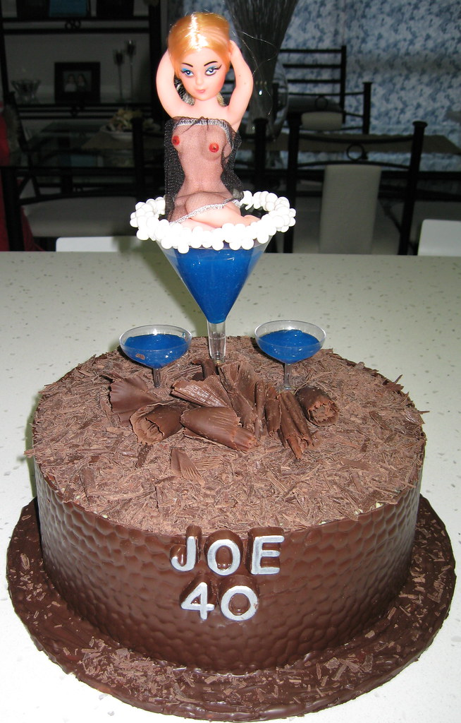 Joe's 40th Birthday Naughty cake | My work friend turned