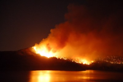 Angel Island on Fire | Photos taken around 10:15pm at the ...