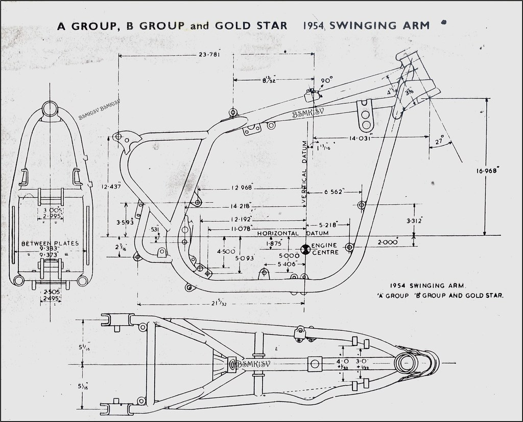 hight resolution of b s a a u0026 b frame 1954 works drawing with all the meas u2026 flickrb s a a u0026 b frame 1954 bsa frame diagram wiring