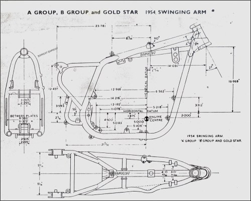 small resolution of b s a a u0026 b frame 1954 works drawing with all the meas u2026 flickrb s a a u0026 b frame 1954 bsa frame diagram wiring