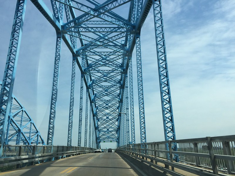 My last view of the Grand Island bridge . . .